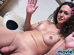 Rock hard Nikki strokes and spreads