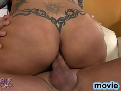 Sweet Stephany rides a big cock