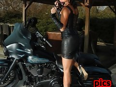 Bianka Not Only Loves Riding Cocks, She also Ride Hot Harleys