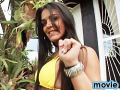 Sweet Brazilian Mickely Miranda Masturbating