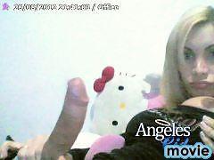 Hot Shemale Angeles Cid Stroking Her Big Shecock On Webcam