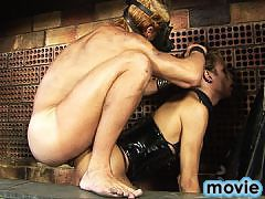 Yasmin Rios being controlled by her master